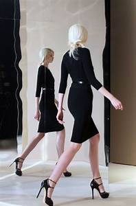 Timeless little black dress and black high heel shoes with perfect hair - classic and timeless ...