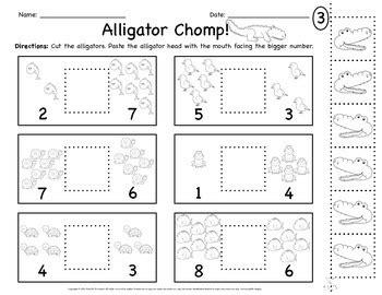 alligator greater    worksheets  growing