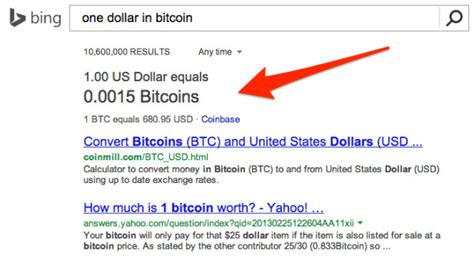 For the week (7 days). Bing Beats Google With Bitcoin Conversion Tool - Search Engine Land