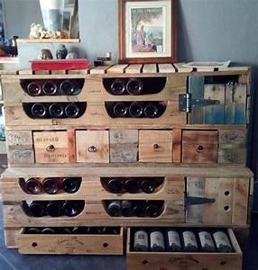 Meuble Rangement Bouteille : meuble palette meubles laboisier ~ Melissatoandfro.com Idées de Décoration