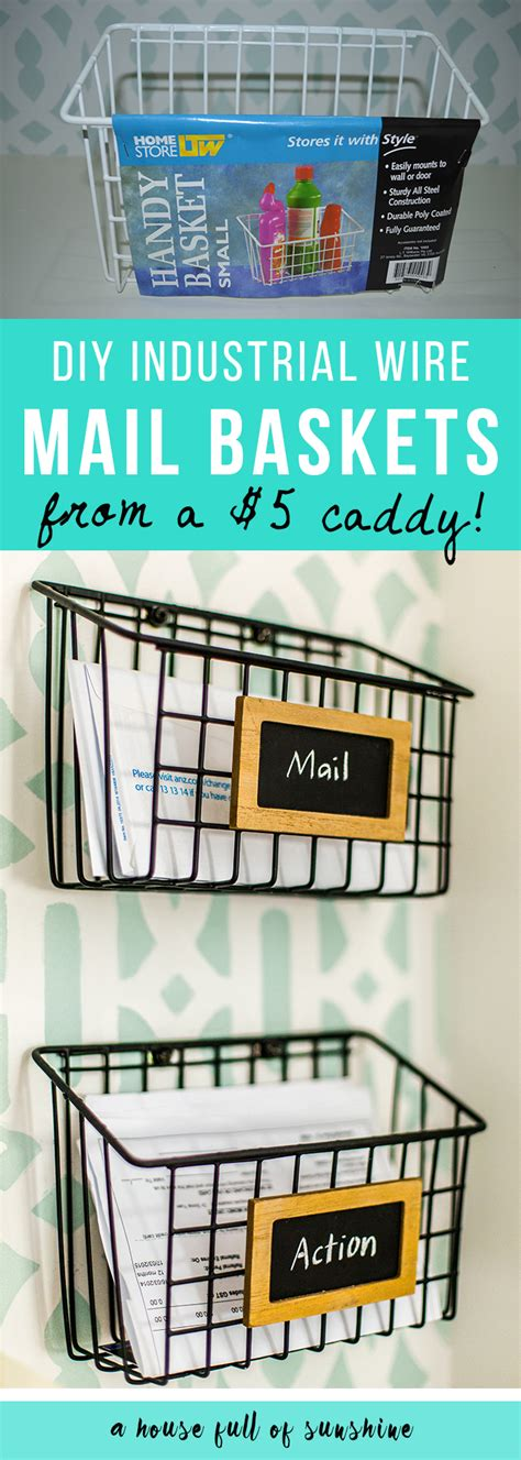 diy industrial wire mail baskets a house full of sunshine