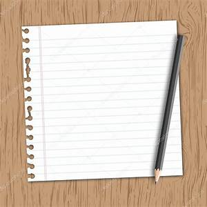 Lined paper with pencil — Stock Vector © 89studio #30806133