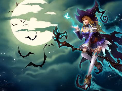 sally blue witch riding  broom league  angels game