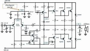 200w Power Amplifier Using Transistor