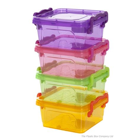 storage box buy 350ml small square plastic storage box with clip on