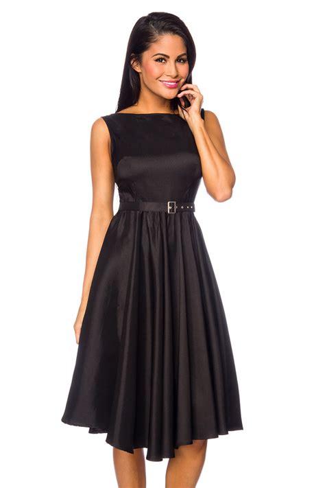 satin kleid mit guertel edles kleid schwarz festliches