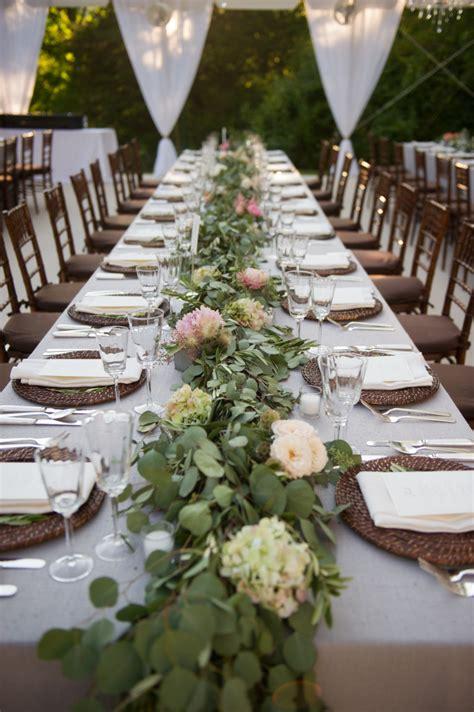 greenery garlands  weddings  blush floral design