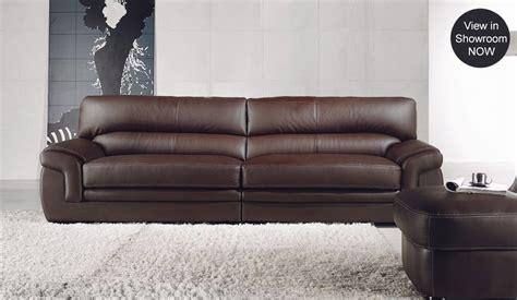 Bachelli Leather Sofa  4 Seater  Delux Deco Furniture