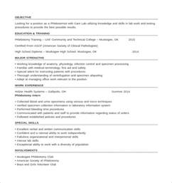 Entry Level Phlebotomist Resume Objective by Sle Phlebotomy Resume Cover Letter Entry Level