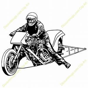 Motorcycle Drag Racing Clip Art (19+)