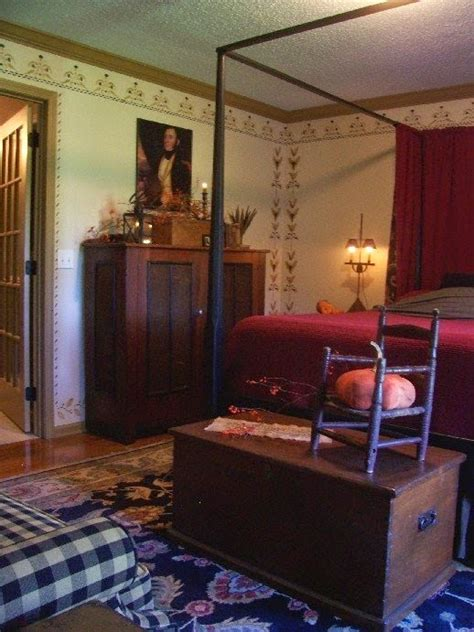 eye  design decorating colonialprimitive bedrooms