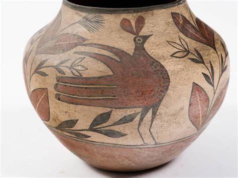 Early 20th Century Zia Pueblo Turn Of The Century Zia Pueblo Pottery Olla For Sale At