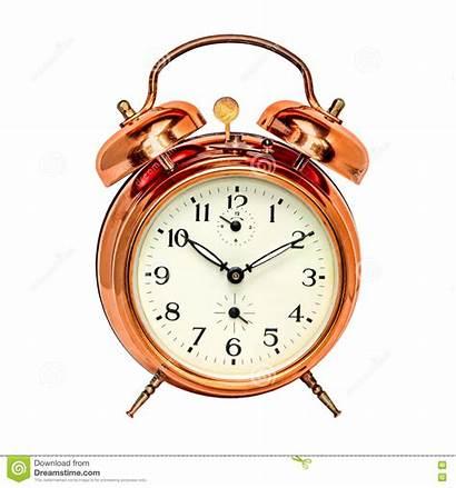 Alarm Clock Bronze Isolated