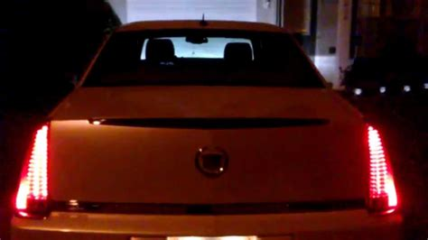 cadillac dts tail lights  night youtube