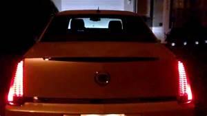 Cadillac Dts Tail Lights At Night