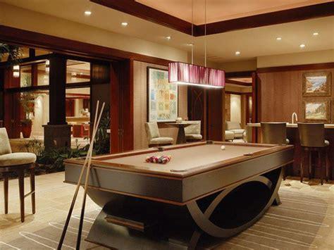 pool table room decor contemporary billiard pool room ideas