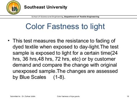 Color Fastness Of Dyed Goods