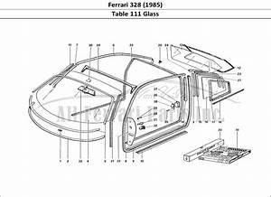 Buy Original Ferrari 328  1985  111 Glass Ferrari Parts