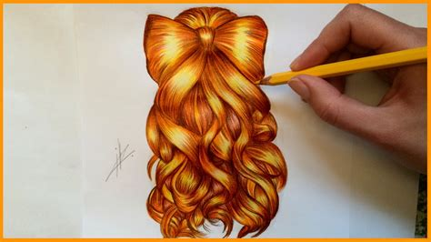 drawing  bow hairstyle youtube
