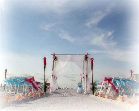 florida beach weddings  hot pink  cool bluesuncoast