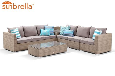 Jermol 58'' linen square arm sofa. Madras 8pc Modular Set - Single Arm Sofa | Outdoor furniture, Outdoor sectional sofa, Outdoor ...