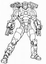 Coloring War Machine sketch template
