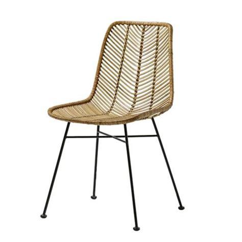 chaise haute cuisine chaise design en rotin tressé bloomingville sur cdc design