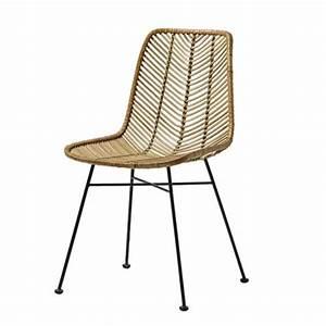 Chaise En Rotin : chaise design en rotin tress bloomingville sur cdc design ~ Preciouscoupons.com Idées de Décoration