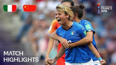 Italy China Fifa Women World Cup France