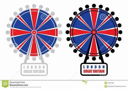 London Eye Vector Clipart Illustration Symbol Cartoon