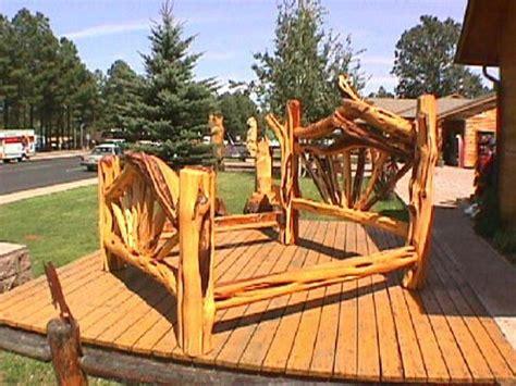 cedar bed frame plans cedar king size bed  hand stripped character cedar logs photo