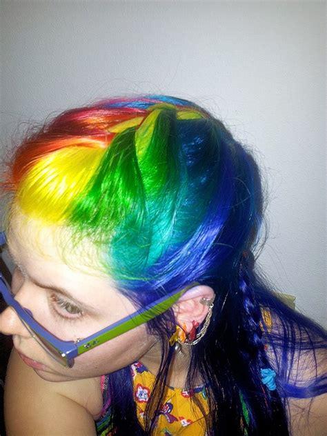 Neon Rainbow Hair French Braid My Hair Pinterest