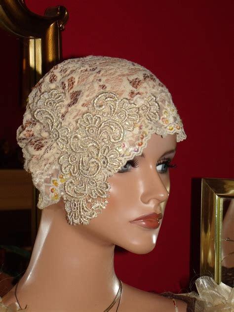 Hat Flapper Hat Cloche Lace Millinery Floral Exclisive