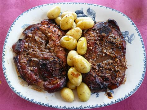 cuisiner une rouelle de jambon rouelle de porc au sirop d 39 érable