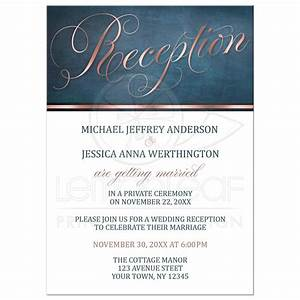 reception only invitations copper blue elegant With kitchen colors with white cabinets with wedding envelope stickers