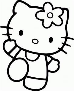Hello Kitty Face Coloring Pages - AZ Coloring Pages