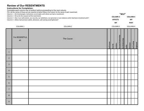 free worksheet aa 4th step worksheets phinixi