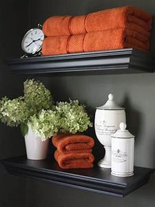 25 best ideas about orange bathroom decor on pinterest With kitchen colors with white cabinets with gerbera daisy wall art