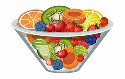 Salad Fruit Clipart Clip Cartoon Transparent Library
