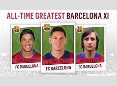 AllTime Greatest Barcelona XI Messi, Ronaldinho, Cruyff