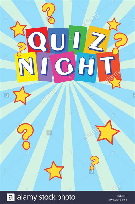 quiz night poster leaflet stock photo royalty  image