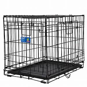 Top pawr double door wire dog crate dog carriers for Petsmart dog cages and crates