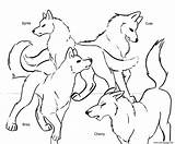 Coloring Wolf Anime Pack Popular sketch template
