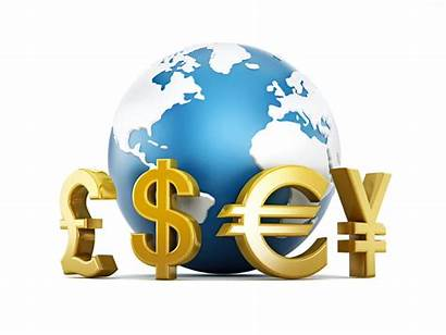 Currency Symbols Forex Around Globe Earth Pairs
