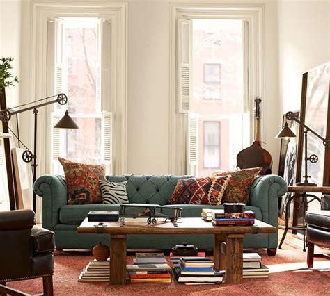 terracotta sofa living room pottery barn