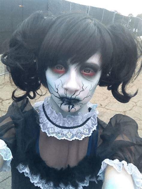 creepy makeup     halloween