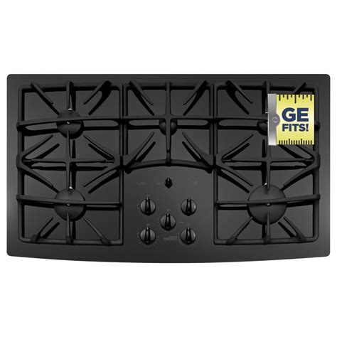 Five Burner Gas Cooktop by Ge Profile 36 In Gas On Glass Gas Cooktop In Black With 5