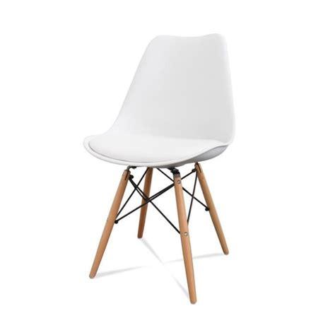 chaise dsw pas cher lot de 2 chaises design ormond dsw couleur blanc achat