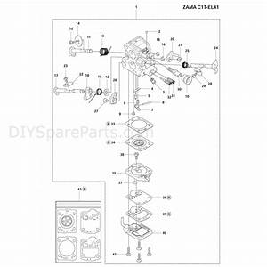 Husqvarna 140 Chainsaw  2012  Parts Diagram  Carburetor