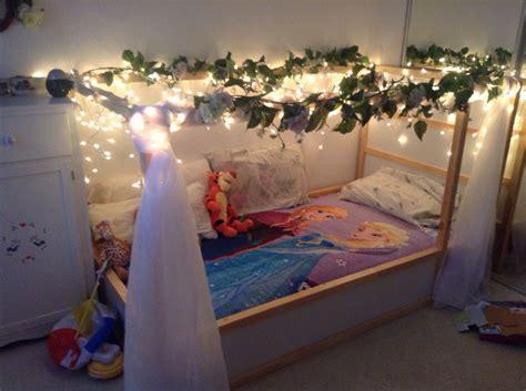 Ikea Prinzessin Bett by Princess Bed Hack From Ikea Kura Loft Bed Kid S Room In